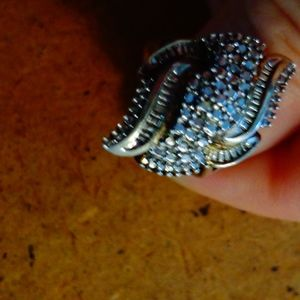 Silver & Diamond Ring